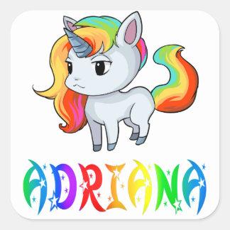 Pegatina del unicornio de Adriana