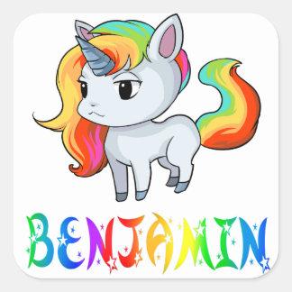 Pegatina del unicornio de Benjamin