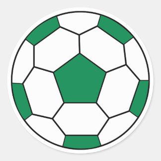 Pegatina del verde del balón de fútbol