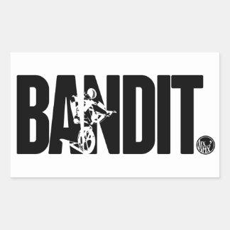 """Pegatina del vintage BMX del """"bandido"""" de LixBMX"""