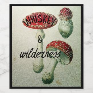 Pegatina del whisky y del frasco del Toadstool del