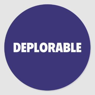 Pegatina deplorable de Pinback del partidario del
