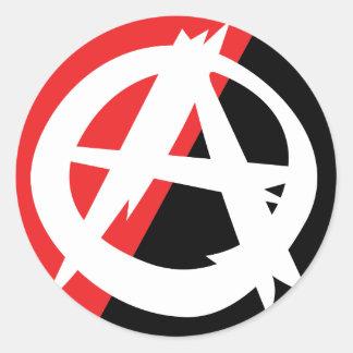 Pegatina desigual del símbolo de la anarquía
