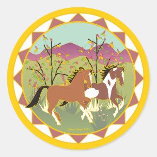 Pegatina divertido del caballo de la pintura del b