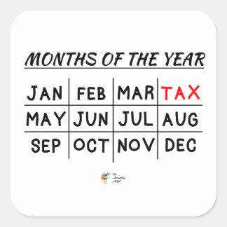 Pegatina divertido del impuesto para el contable
