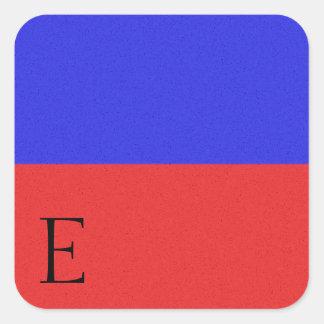 Pegatina E del alfabeto de la bandera de señal