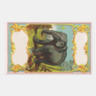 Pegatina en blanco personalizado del elefante de