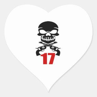 Pegatina En Forma De Corazón 17 diseños del cumpleaños