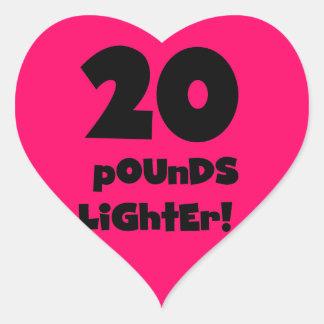 Pegatina En Forma De Corazón 20 libras de encendedor