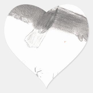 Pegatina En Forma De Corazón 4' th del águila calva de los fuegos artificiales