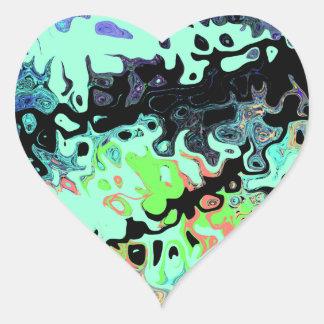 Pegatina En Forma De Corazón 5855.7Y abstracto que fluye