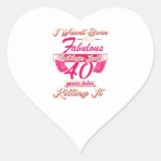Pegatina En Forma De Corazón 65.a camiseta linda del regalo de la fiesta de