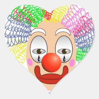 Pegatina En Forma De Corazón 97Clown Head_rasterized