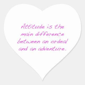 Pegatina En Forma De Corazón Actitud - prueba dura o aventura