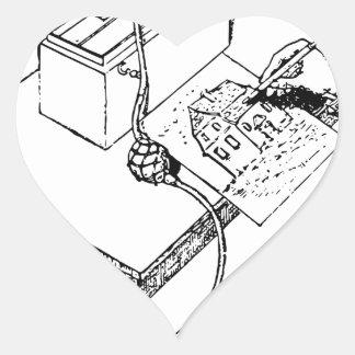 Pegatina En Forma De Corazón Aerógrafo viejo
