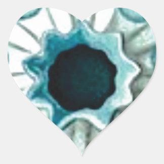Pegatina En Forma De Corazón agujero y ojos azules