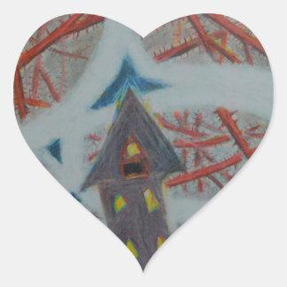 Pegatina En Forma De Corazón Agujeros azules