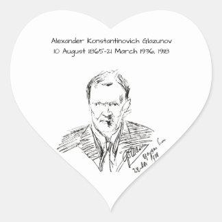 Pegatina En Forma De Corazón Alexander Konstamtinovich Glazunov 1918