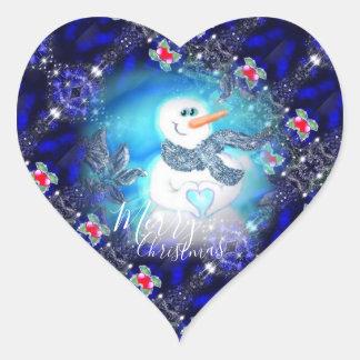 Pegatina En Forma De Corazón Alguien le ama muñeco de nieve emocional
