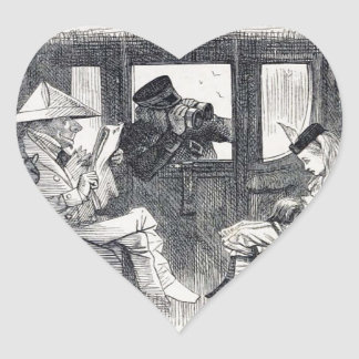 Pegatina En Forma De Corazón Alicia en el tren