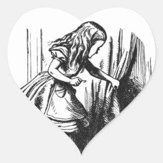 Pegatina En Forma De Corazón Alicia encuentra una puerta