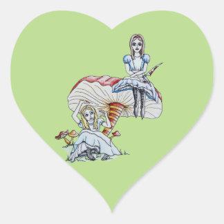 Pegatina En Forma De Corazón Alicia enojada