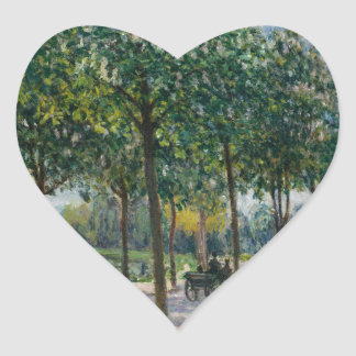 Pegatina En Forma De Corazón Allée de los árboles de castaña - Alfred Sisley