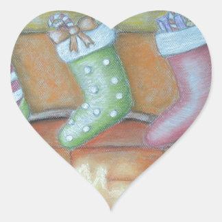 Pegatina En Forma De Corazón Almacenamiento del navidad