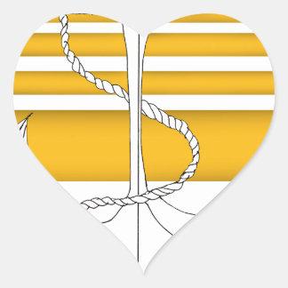 Pegatina En Forma De Corazón almirante del oro, fernandes tony