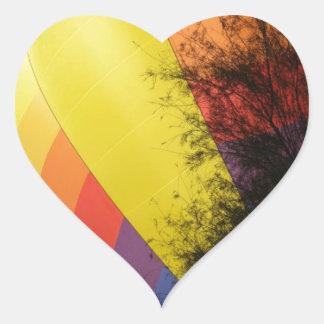 Pegatina En Forma De Corazón Amarillo con cresta