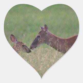 Pegatina En Forma De Corazón Ámele los ciervos