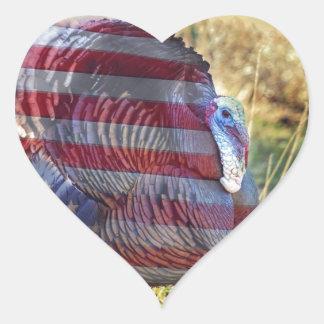 Pegatina En Forma De Corazón Amercan Turquía salvaje