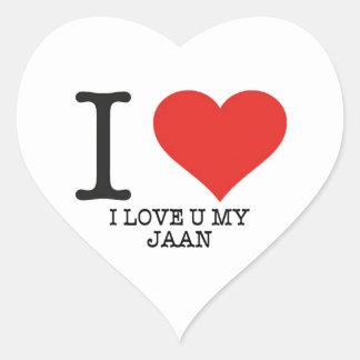 Pegatina En Forma De Corazón Amo a los pegatinas del corazón de enero,