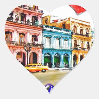 Pegatina En Forma De Corazón Amo Cuba
