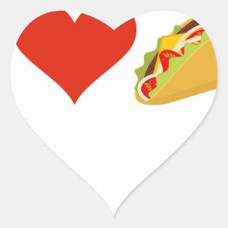 Pegatina En Forma De Corazón Amo el Tacos para los amantes del Taco