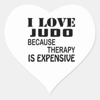 Pegatina En Forma De Corazón Amo judo porque la terapia es costosa