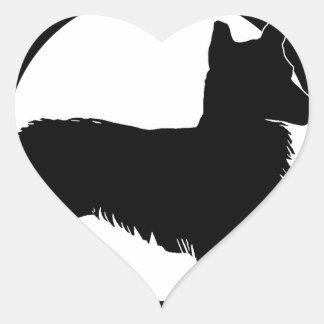 Pegatina En Forma De Corazón amo mi corgi galés