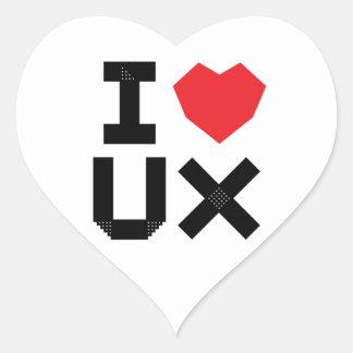 Pegatina En Forma De Corazón Amo UX (la experiencia del usuario)