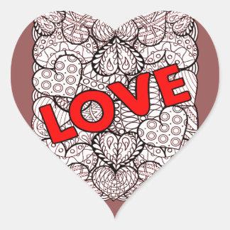 Pegatina En Forma De Corazón Amor 1