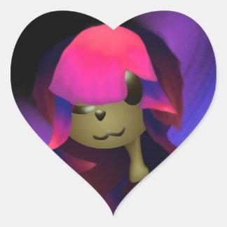 Pegatina En Forma De Corazón Amor de perrito de Arima (diseño temprano)