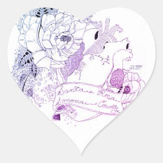 Pegatina En Forma De Corazón Amor de Sonoma (Ombré azul)