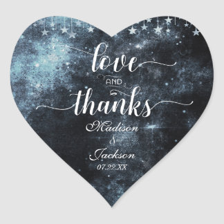Pegatina En Forma De Corazón Amor del boda de la acuarela y favor pegados