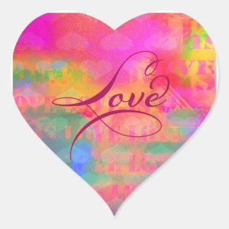 Pegatina En Forma De Corazón Amor del corazón del el día de San Valentín