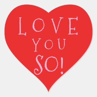 Pegatina En Forma De Corazón Amor del el día de San Valentín usted tan