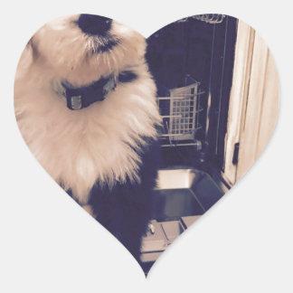 Pegatina En Forma De Corazón Amor del perro pastor