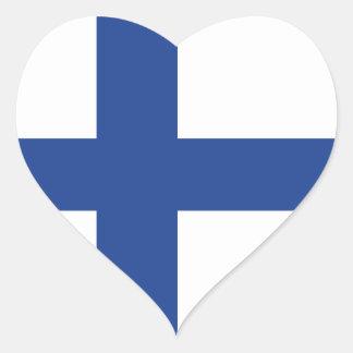 Pegatina En Forma De Corazón Amor Finlandia, bandera finlandesa