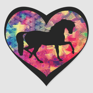 Pegatina En Forma De Corazón Amor para los caballos
