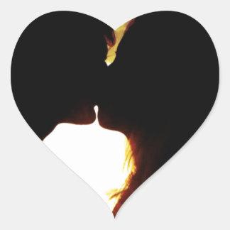 Pegatina En Forma De Corazón Amor y verano