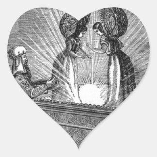 Pegatina En Forma De Corazón Ángeles sobre la Arca de la Alianza