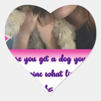 Pegatina En Forma De Corazón Antes de que usted consiga un perro